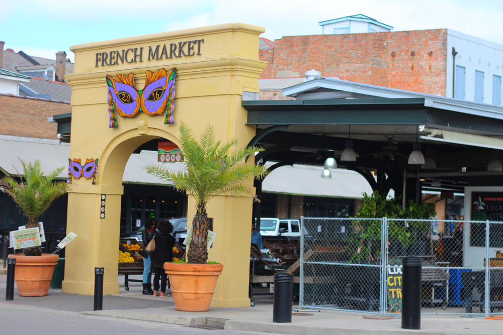 The French Market is a huge market filled with hundreds of little stands of food, gifts, and art. You can think of it as the best gift store you've ever visited.