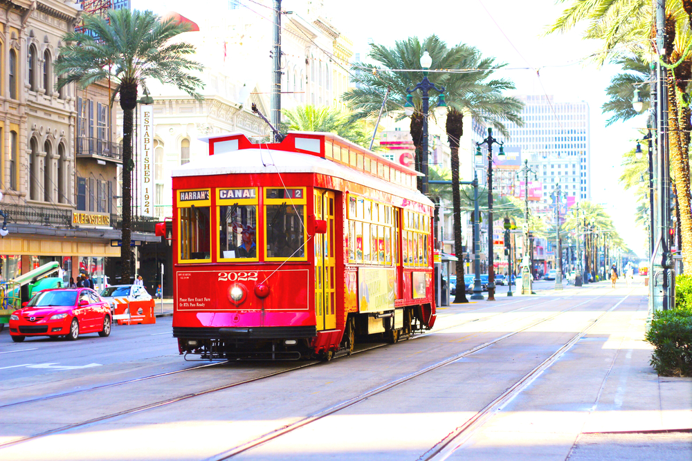 If you want a quick and cost effective way to get around New Orleans then you have to take a trolley! There are MANY places around New Orleans where you can board one and they can take you almost anywhere you'll want to go. One of the best parts of taking a trolley is that a 24 hour pass is only $3!