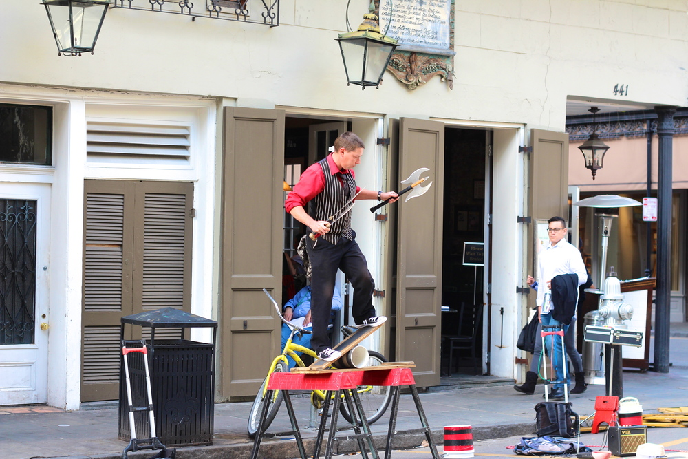 You have not been to New Orleans unless you have walked around the French Quarter. Here you'll find restaurants, shops, and my favorite, street performers.