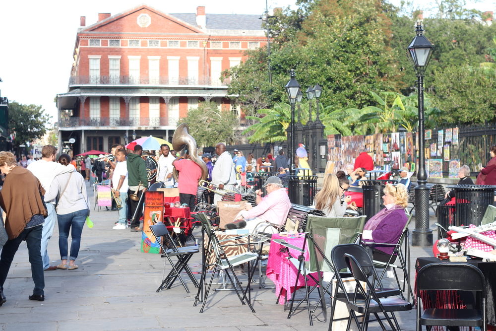 You will definitely want to visit Jackson Square, a National Historic Landmark. Directly in front of St.Louis Cathedral you will find Jackson Square park.