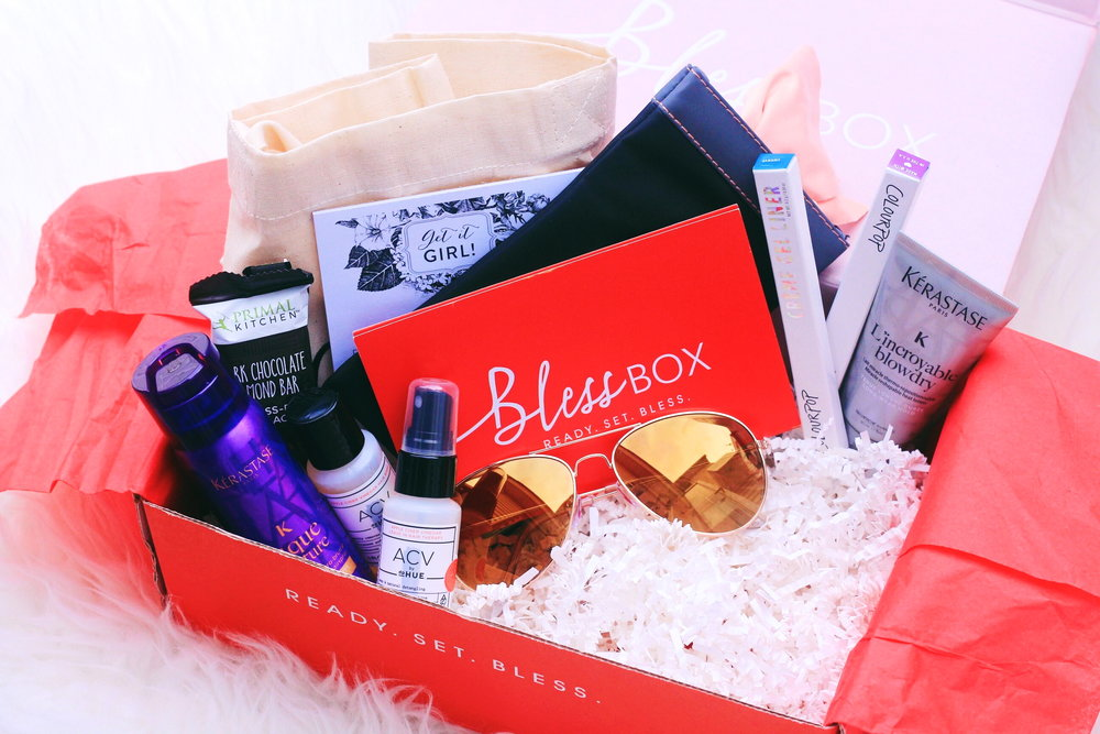Two months ago the beautiful and talented Sazan Hendrix launched Bless Box, a monthly subscription service.Bless Boxis a lifestyle box that offers handpicked home, health, style, beauty and skincare products for $29.99 a month. Today I will be sharing my thoughts on January's Bless Box,a mini review on the products, a price breakdown, and my overall thoughts on the subscription service. BEAUTY, STYLE, LIFESTYLE, SAZAN, SAZAN HENDRIX, BLESS BOX, SUBSCRIPTION BOX, BLESS BOX REVIEW, SUBSCRIPTION BOX REVIEW, BEAUTY PRODUCTS, VYE EYEWEAR, KERASTASE, COLOURPOP, DPHUE, READY SET BLESS, GIRLS, FEMALE, WOMEN.