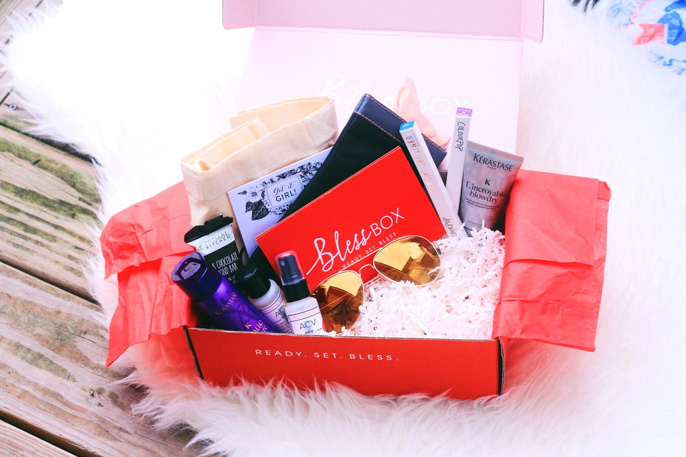 beauty, style, lifestyle, sazan, sazan hendrix, bless box, subscription box, bless box review, subscription box review, beauty products, VYE eyewear, Kerastase, Colourpop, DpHue, ready set bless, girls, female, women.