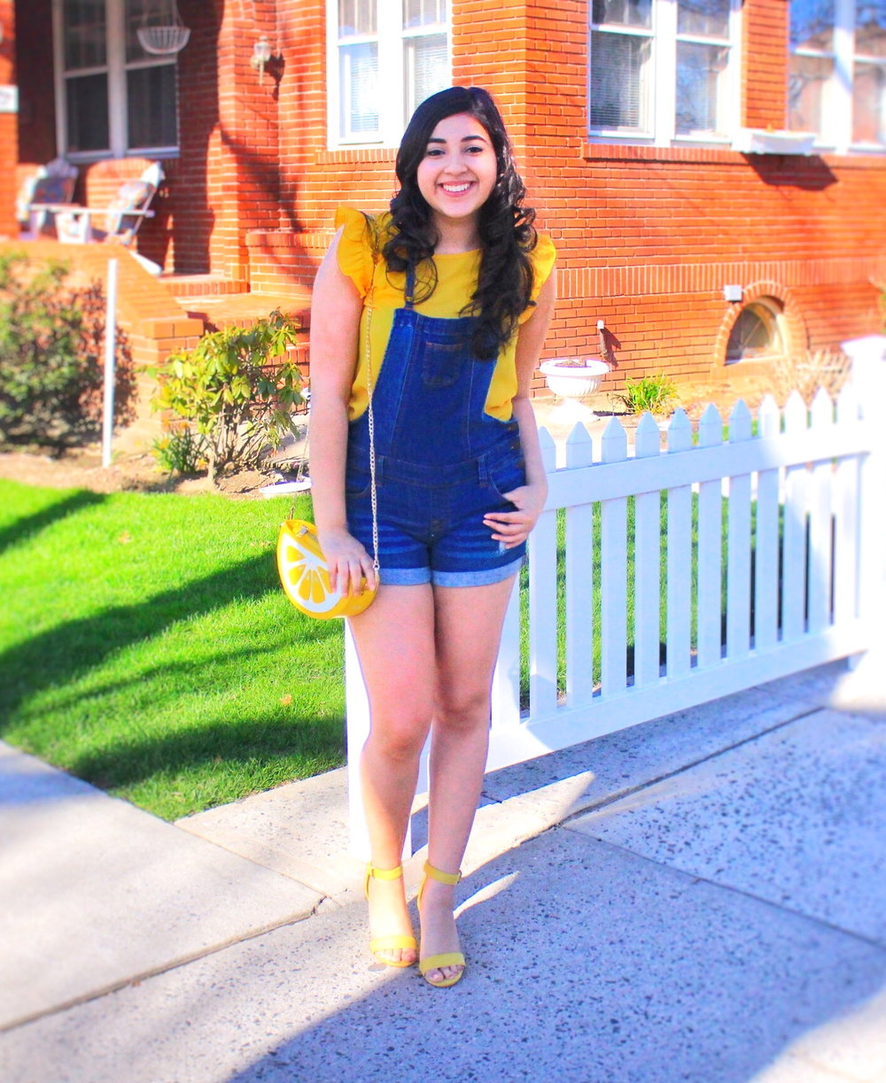 OOTD, outfit of the day, yellow, outfit ideas, easy outfit ideas, outfit ideas for girls, women, females, woman, forever 21, asos, burlington, burlington coat factory, shein, ruffles