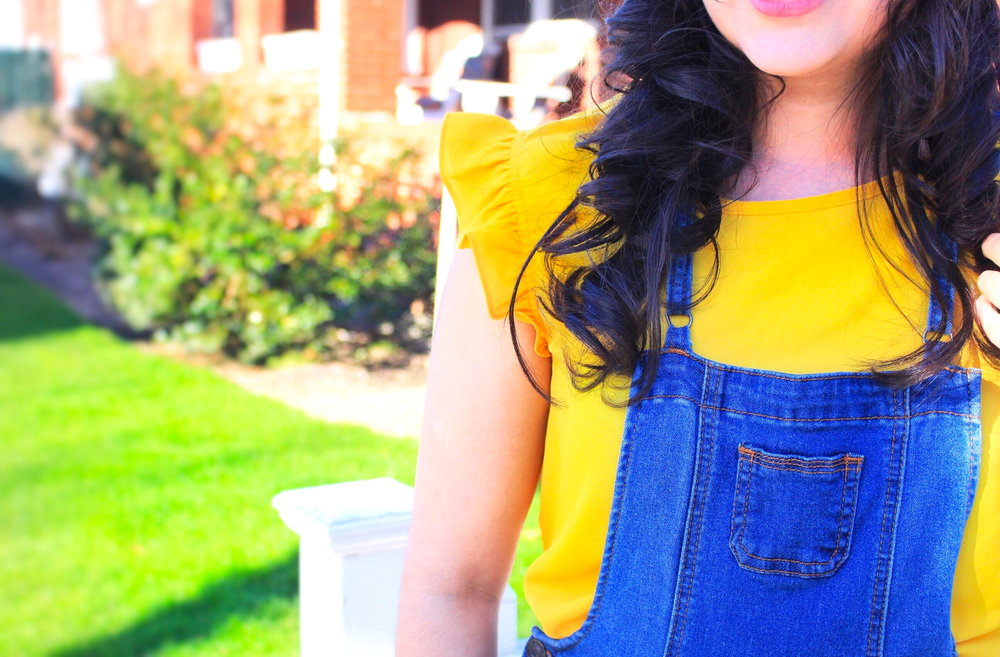 Fun fact, when I was younger I absolutely HATED the color yellow. I don't know what it was about the color, I just wasn't a fan. Fast forward about 15 years or so and BAM! Yellow is one of my favorite colors. Today I'm sharing this colorful outfit of the day. OOTD, outfit of the day, yellow, outfit ideas, easy outfit ideas, outfit ideas for girls, women, females, woman, forever 21, asos, burlington, burlington coat factory, shein, ruffles
